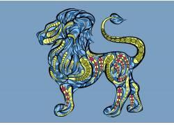 卡通狮子设计图片