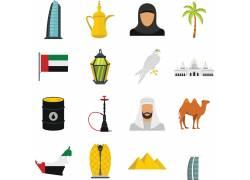 埃及旅游图标设计