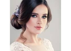 新娘漂亮的发型图