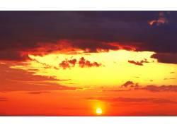 红色天空晚霞