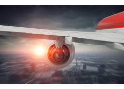 阳光和航空发动机摄影