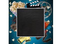 黑板和电影胶片摄影