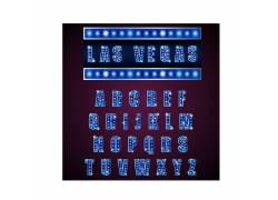 发光英文字母设计