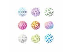 彩色球体logo