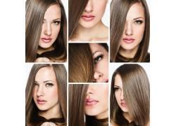直发美女发型图片集