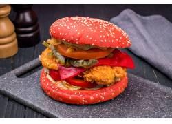 汉堡包摄影图图片