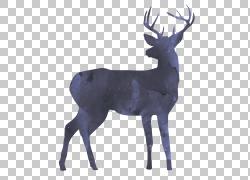 黑色剪影麋鹿图片