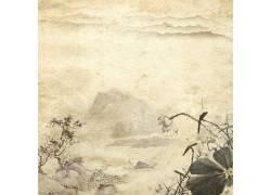 荷花山峰中国风背景