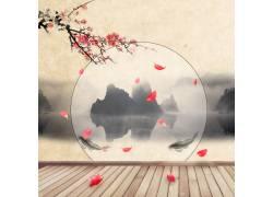 中国风山水背景