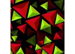 红绿三角立体底纹