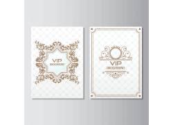 白色古典花纹卡片