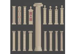 复古欧式罗马柱