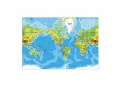矢量彩色世界地图图片