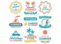 夏季度假图标