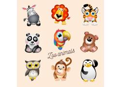 矢量卡通动物背景图片