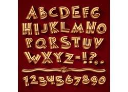 金色立体英文字母