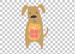卡通狗狗礼物图片