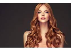 棕色头发模特