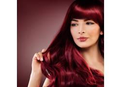 红色头发美女