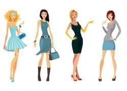 卡通时尚女性