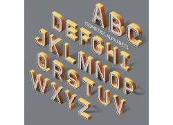 立体英文字母设计