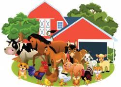 乡村房屋建筑与动物图片