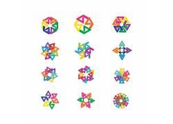 彩色拼图设计图片