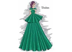 时尚女性时装秀