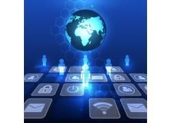 蓝色科技图标