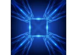 智能蓝色芯片