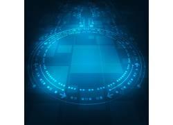 蓝色科技箭头地图