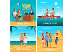 海边度假人物