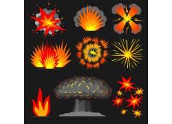 卡通爆炸火焰