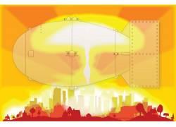 城市建筑与飞船