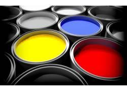 彩色油漆摄影