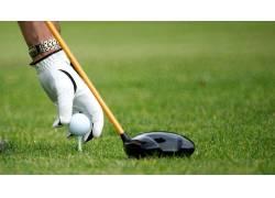 高尔夫球与男人