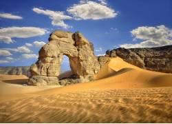 岩石沙漠景色