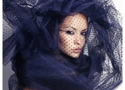 黑纱下的美女摄影