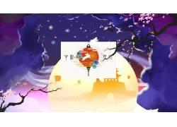 中秋节的月亮灯笼