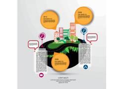 彩色统计图表设计素材图片
