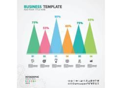 彩色统计图表设计素材