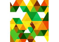 彩色多边形创意背景