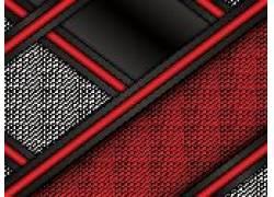 红色多边形布纹背景