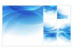 蓝色商务渐变创意背景