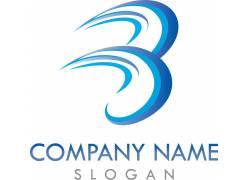 蓝色企业logo