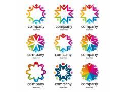 彩色图形企业logo