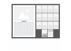 2019年日历行程计划