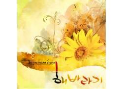 黄色向日葵背景