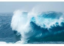 海水的浪花特写