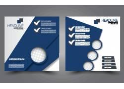 蓝色商务圆形封面设计图片